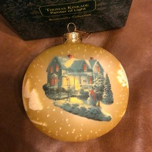 Thomas Kinkade Blessing of Christmas Ornament